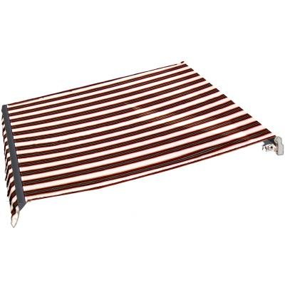 AWNTECH 16 ft. Maui Motorized Retractable Awning in Burgundy/Forest/Tan Stripe