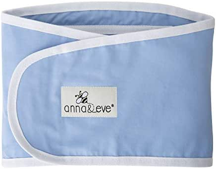 Anna & Eve® - Baby Swaddle Strap®, Adjustable Arms Only Wrap for Safe Sleeping - Large Size Fits Chest 16 to 20.5, Blue