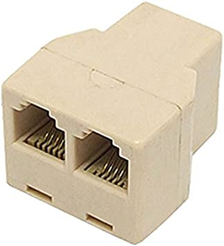 Telephone Training Adapter Two Way Spliter For Call Center Office Phone RJ Plug