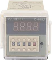 1-999900 O111ROM LCD-Display 100 * 51 * 51mm Digital Counter Round 8 Pin Counter Delay for Remote Control Comm