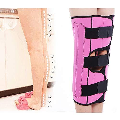 Leg Straightener Straps To Correct O/X Type Leg Correction Belt Band Beauty Leg Straighten Tape Bandage Adjustable Double Belt Strap Fixing (Color : Pink, Size : L) by Sharon (Image #1)