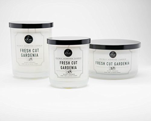 DW Home Large Double Wick Candle, Fresh Cut Gardenia by DW Home (Image #1)