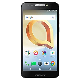 "Alcatel A30 PLUS Unlocked Smartphone (AT&T/T-Mobile/Verizon) - 5.5"" HD Screen, 16 GB, 5MP Camera with Front-facing Flash, and Android 7.0 Nougat [Black]"