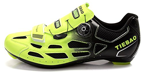 Weideng Unisex Professional Bicycle Cycling Shoes Breathable Men Women Road Bike Racing Shoes S11-Snap Tuning Knob Fastener Shoe Green ()