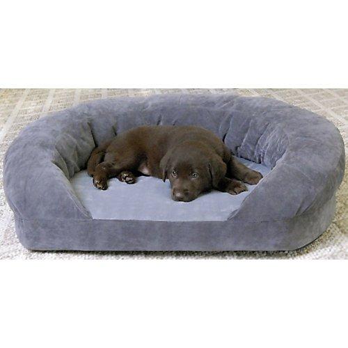 Ortho Sleeper Bolster - KH Mfg Ortho Bolster Sleeper Gray Dog Bed Large