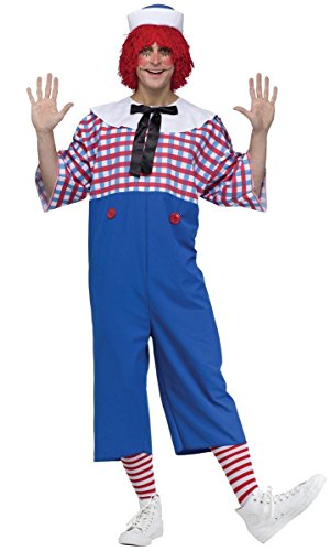 Raggedy Andy Costume - Standard - Chest Size 33-45