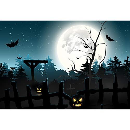 Leyiyi Halloween Party Backdrop 5x3ft Polyester Photo Background
