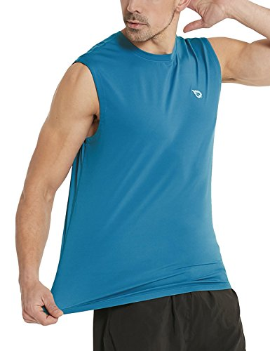 Baleaf Men's Performance Quick-Dry Muscle Sleeveless Shirt Tank Top Blue Size XXXL