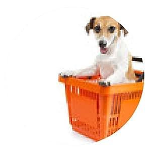 alfombrilla de ratón Jack Russell Terrier perro sentado en un carrito de la compra - ronda - 20cm