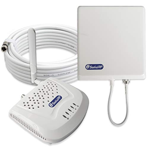 SolidRF Dual-Band SOHO Cell Phone Signal Booster 2G/3G/4G at&T Verizon T-Mobile Sprint for Home Supports 4000 Sq Ft 850MHz&1900MHz All Carriers