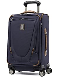 "Luggage Crew 11 21"" Carry-on Expandable Spinner w/Suiter and USB Port, Patriot Blue"