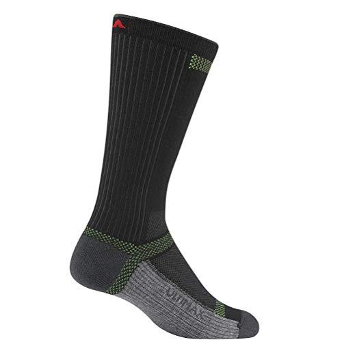 (Wigwam Men's Ultra Cool-Lite Ultimax Ultra-Lightweight Crew Sock,Black,Large/shoe Size:Men's 9-12,Women's 10-13)
