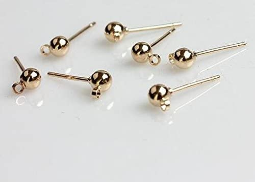 20 x Gold Tone Post Stud Backs For Cabochons Earring Jewellery Making Findings