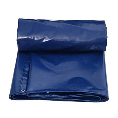 HOU ZUO-Patio Furniture Covers PVC Waterproof Tarpaulin Tarp Awning Canvas Heavy Duty Reinforced Outdoor, Blue, Multi Sizes, 550G/M² (Color : 5x6m)