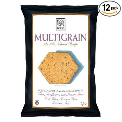 FoodShouldTasteGood Multigrain Tortilla Chips, 5.5-Ounce Bags (Pack of 12) ( Value Bulk Multi-pack) by Food Should Taste Good