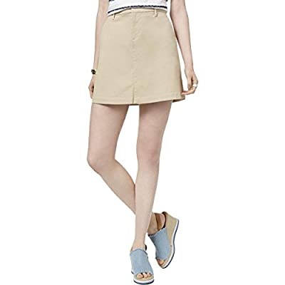 Tommy Hilfiger Womens A-Line Slit Pockets Mini Skirt