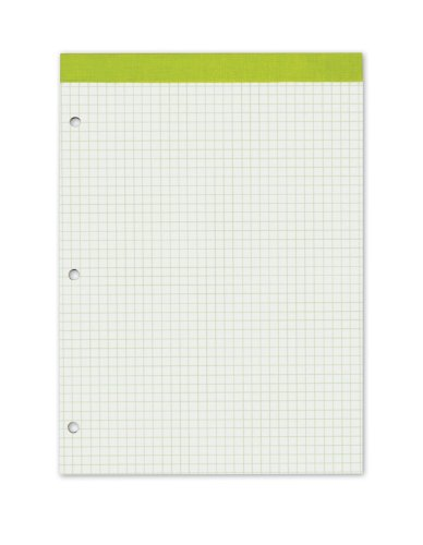 Ampad Double Sheet Pad, Green, Letter, 4 Square/Inch Rule, 100-Sheets, 1-Each - Ampad Evidence Square
