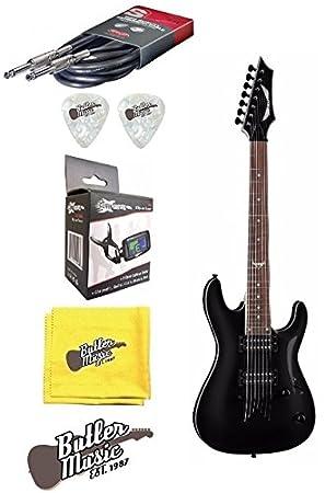 Dean Guitars Custom Classic negro 750 x (7 cuerdas Guitarra eléctrica w/afinador de clip + más: Amazon.es: Instrumentos musicales