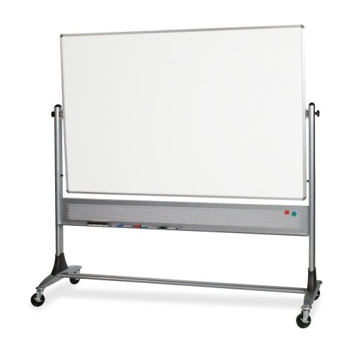 Best-Rite Platinum Mobile Reversible Whiteboard Easel, 4 x 6 Feet Panel Size, Porcelain Steel Markerboard Surface (669RG-DD)