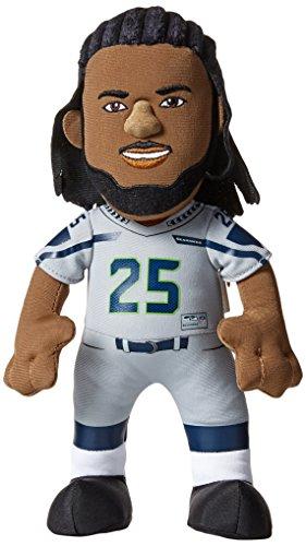 "Bleacher Creatures NFL Seattle Seahawks Richard Sherman Plush Figure, 10"", Silver"