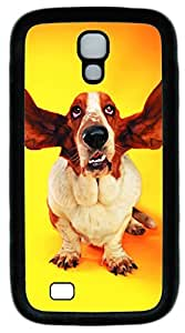 samsung galaxy s4 case,custom samsung galaxy s4 i9500 case,TPU Material,Drop Protection,Shock Absorbent,Customize your own cell phone case pattern,black case,Big ear dog