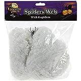 6 Jumbo Spinnen Netz mit Spinnen Halloween Party Deko Dekoration