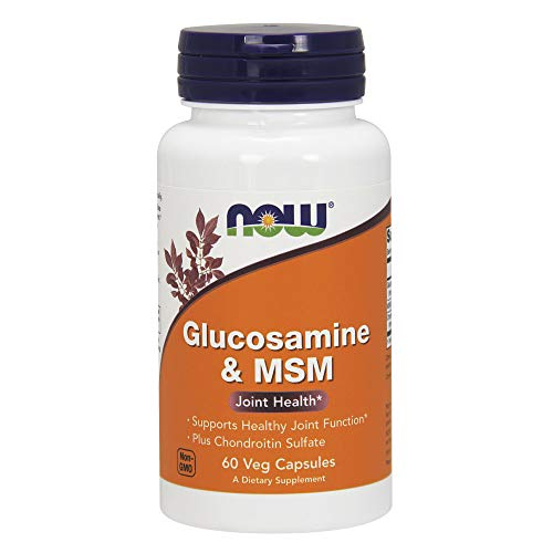 NOW Supplements, Glucosamine & MSM plus Chondroitin Sulfate, 60 Veg Capsules