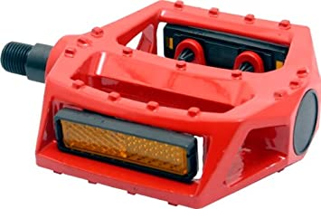 Big Roc 57PWP313O Pedal with Reflector 90X98Mm, 480G, Spindle 9//16, Alloy Orange