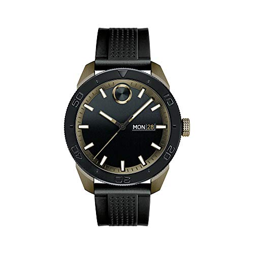 - Movado Men's BOLD Sport Khaki PVD Watch with a Printed Index Dial, Black/Black (Model 3600452)