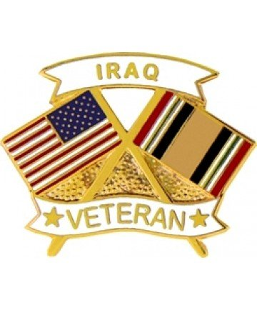 Iraq Veteran Lapel or Hat Pin - Iraqi Freedom Veteran Hat Pins