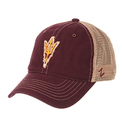 Zephyr NCAA Arizona State Sun Devils Men's Tatter Relaxed Cap, Adjustable, Maroon Arizona State Baseball Hat