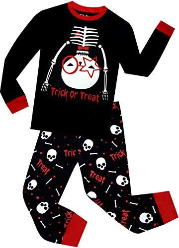 BebeBear Boys Halloween Pajamas Skull Toddler Kid Pyjamas Glow in The Dark Children Sleepwear Size 6