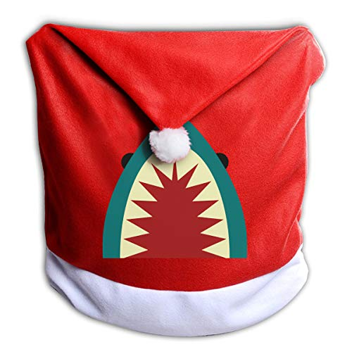 Price comparison product image EveXi Shark Mouth Santa Hat Chair Covers,  Santa Clause Red Hat Chair Back Covers Kitchen Chair Covers Sets for Christmas Holiday Festive Decor