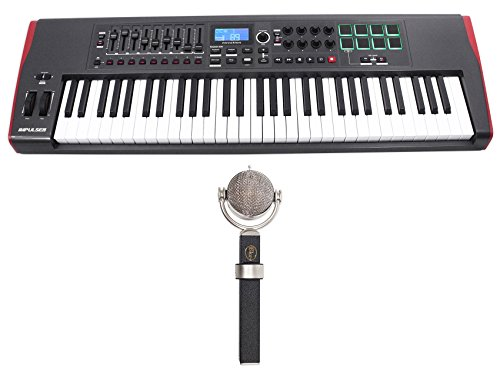 Blue Dragonfly Studio Condenser Microphone+Novation 61-Key Keyboard (Blue Dragonfly Condenser Microphone)