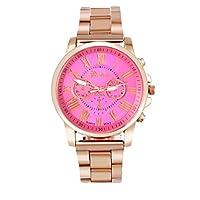 Hot Sale ! ღ Ninasill ღ Roman Number Geneva Stainless Steel Quartz Sports Dial Wrist Watch