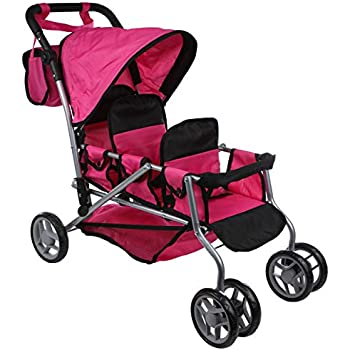 Amazon Com Mommy Amp Me Triplet Doll Pram Back To Back With