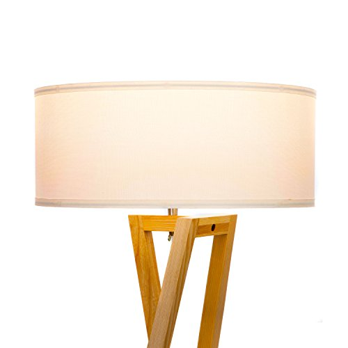 Brightech''Z'' Wood Tripod LED Floor Lamp - Mid Century Modern Light for Living Rooms & Family Rooms - Tall Standing Lighting for Contemporary Bedrooms & Offices by Brightech (Image #6)