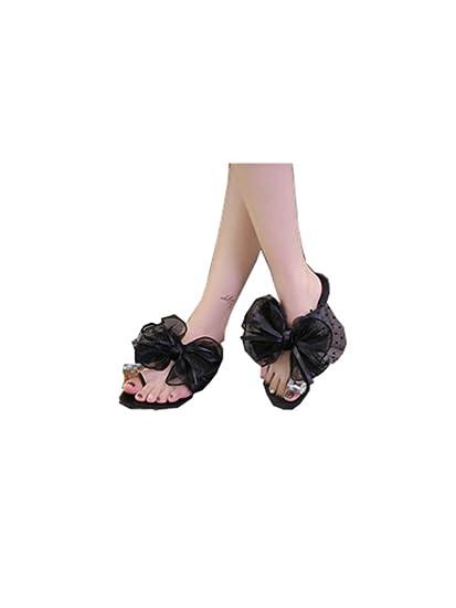 Amazon.com  Baigoods 2018 Fashion Summer Women Butterfly-Knot Flower Bow  Flat Heel Toe Sandals Slipper Beach Casual Shoes  Car Electronics fbc1b01f2b9b