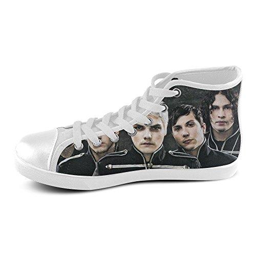 ba79e8144ab69 Custom My Chemical Romance Rock Band High Top Canvas Shoes Classic ...