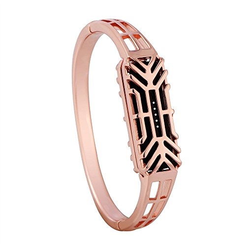Watch Band for Fitbit Flex 2, salaheiyodd Newest Replacement Bracelet Wristband Fashion Pure Copper Accessory Bangle Watch Band Wrist Strap for Fitbit Flex 2 Men Women (Rose Gold) ()