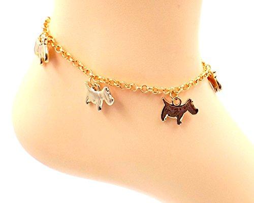 Blush Rose Gold-Plate Terrier/Dog Anklet- Fur-Babies Ankle Bracelet- Pet Collection