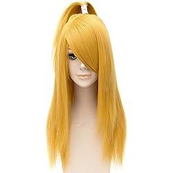 Tsnomore Straight Blonde Cosplay Naruto Akatsuki Deidara Wig