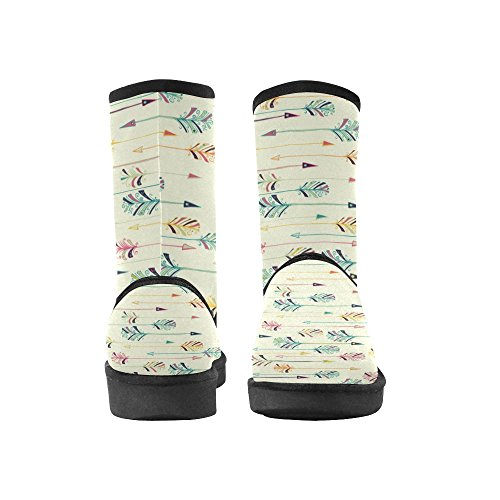 Size Ethnic Womens 5 12 Snow Circles Doodle Floral Print InterestPrint Color10 Pattern Classic colorful Tribal Ladies Boots 5 OSKgCw