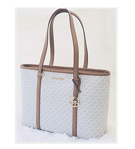 (Michael Kors Women's Sady Carryall Shoulder Bag No Size (Vanilla/Acorn) )