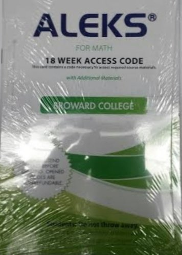 Download Aleks for Math 18 Weeks Student Access Code for Broward College PDF