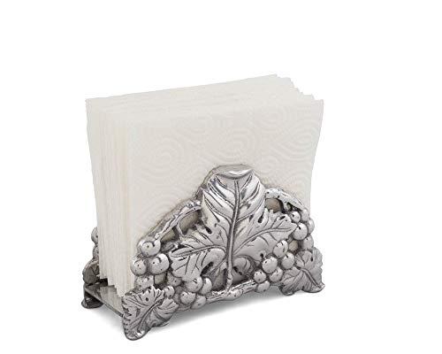 Arthur Court Designs Aluminum Grape Pattern Upright Paper Napkin Holder ()