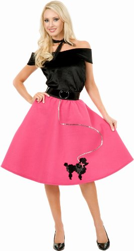 [Charades Costumes CH52132P-1X Womens Plus Size Poodle Skirt Costume Size 1X] (1950s Costumes Plus Size)