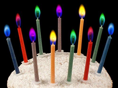 12 Unidades) velas con llamas multicolores de colores para ...