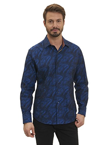 Robert Graham Men's Classic Fit Limited Edition Men's Woven Long Sleeve Sport (Editions Long Sleeve Shirt)