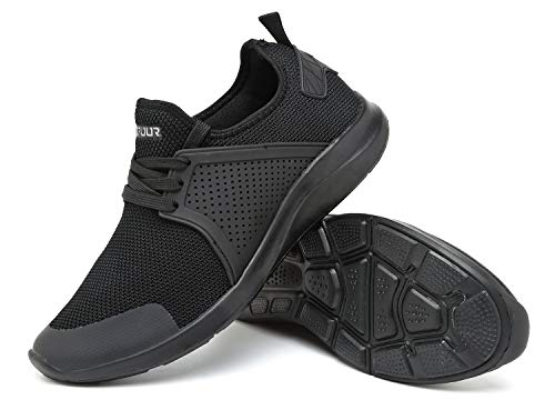 Walking Vifuur Légers Occasionnelle Noir Maille Sneakers Respirant Chaussures Running Hommes's Athlétiques FBqx1r8wF